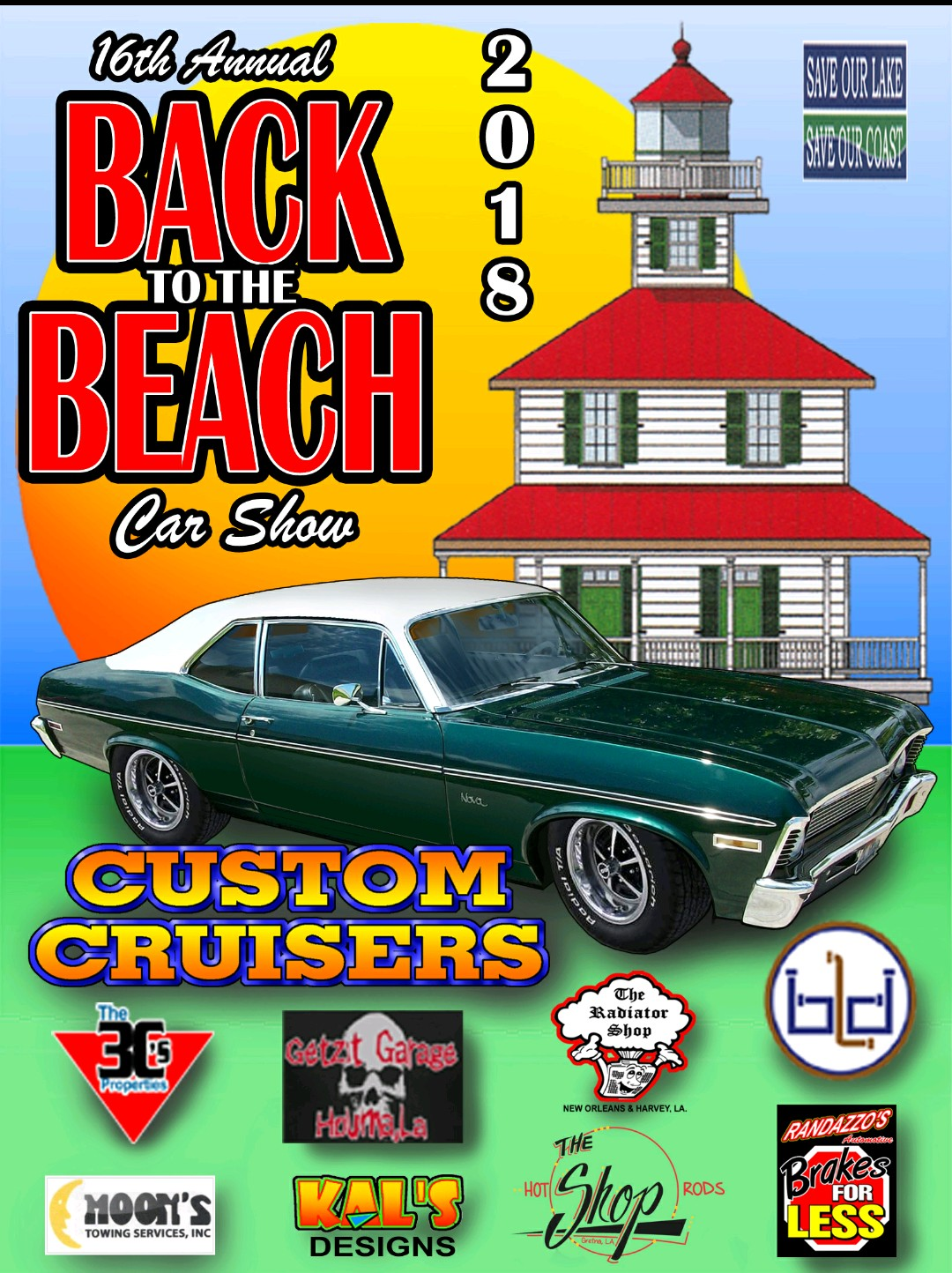 June Back To The Beach Car Show Benefit For The Kenner Police - New orleans car show